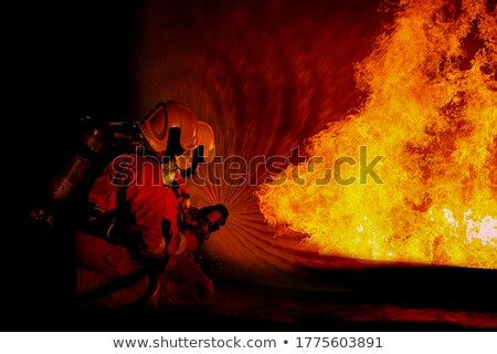 A brave fireman Stock photo © bluering