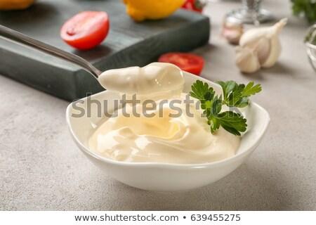 ボウル · マヨネーズ · サラダドレッシング · クリーミー · クローズアップ · 自家製 - ストックフォト © digifoodstock