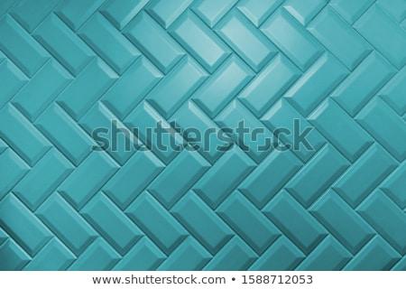 bleu · céramique · tuiles · texture · peuvent - photo stock © homydesign