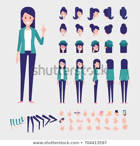 Woman Character Template Vector Illustration. Stock photo © robuart