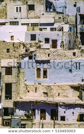 Christelijke dorp Syrië gebouwen architectuur god Stockfoto © meinzahn