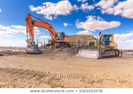 excavator working on construction site stock photo © mady70