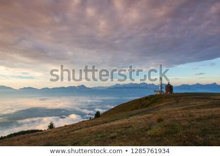 Gyönyörű kilátás Szlovénia hegyek Alpok erdő Stock fotó © CaptureLight