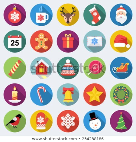 Stock photo: Snowflakes icons set, flat style. Snowflake , buttons. Vector illustration