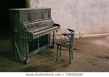 Old Piano with Notes Stock photo © Kayco