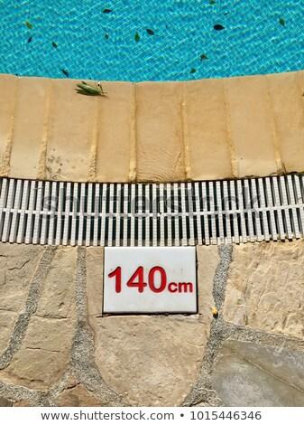 teken · geen · duiken · metalen · hek · water - stockfoto © boophuket