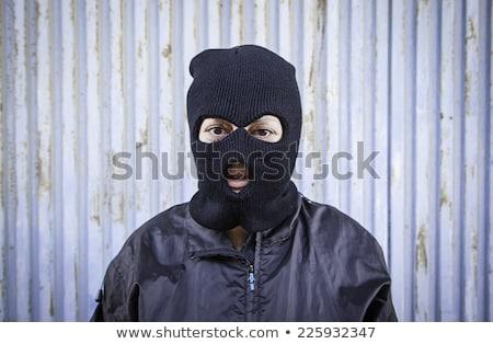 Kayak maske simge terörizm adam kafa Stok fotoğraf © gomixer