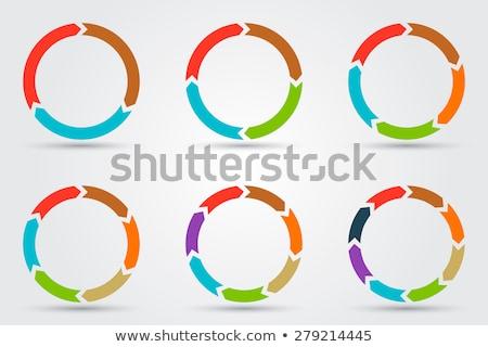 Zdjęcia stock: Trzy · kółko · proces · ikona · działalności