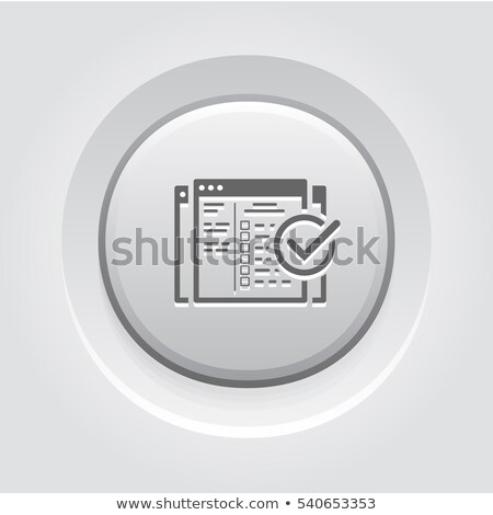 Campagne icon grijs knop ontwerp business Stockfoto © WaD