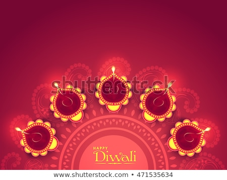 beautiful diwali greeting background with floral ornaments vecto stock photo © sarts