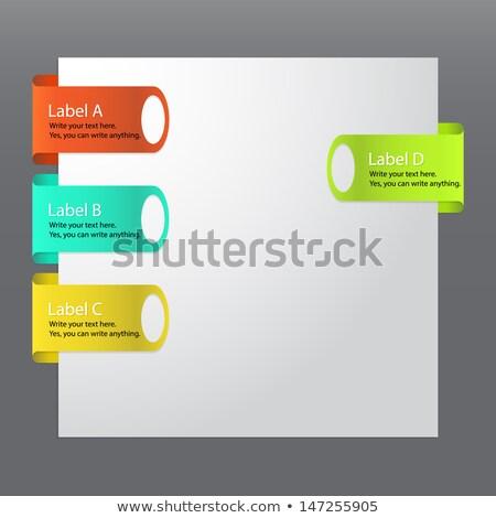 couleur · étiquettes · nombre · résumé - photo stock © orson