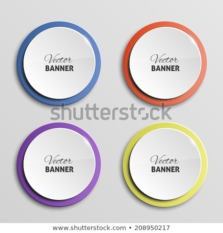 Stock photo: colorful round labels stickers
