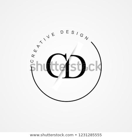 Płyta cd logo monogram projektu 10 technologii Zdjęcia stock © sdCrea
