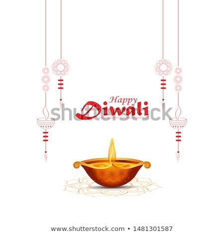 Frumos diwali salut lumânare lampă se închina Imagine de stoc © SArts