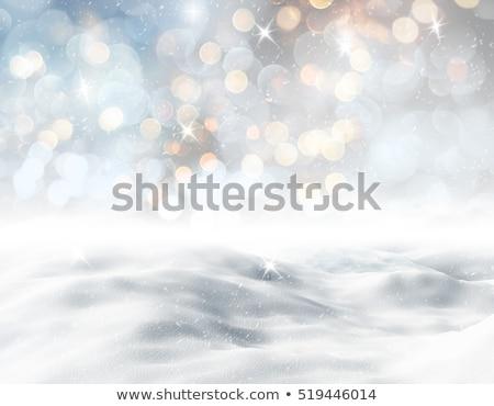 Paisagem natal neve 3d render laranja amarelo Foto stock © mariephoto