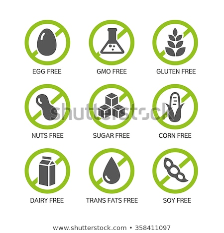 Food intolerance icons, health care diets Stock photo © Tefi