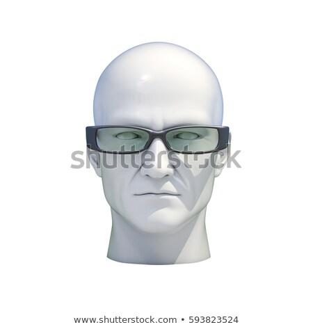 Próbababa fej izolált műanyag férfi fehér Stock fotó © Supertrooper