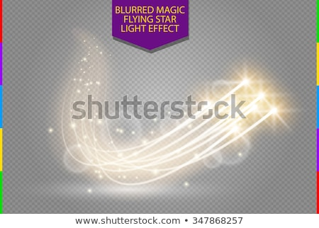 golden swirl transparent white light effect background Stock photo © SArts