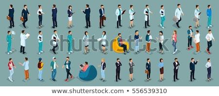 事務員 · ビジネスマン · 孤立した · アイソメトリック · アイコン · 事業者 - ストックフォト © robuart