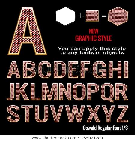Rubi fonte alfabeto cartas pedra Foto stock © popaukropa