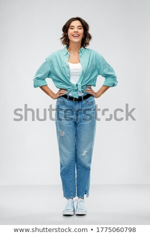 Full-length shot of cheerful young woman Stock photo © deandrobot