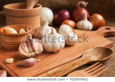 alho · fresco · descascado · comida · vegetal - foto stock © digifoodstock