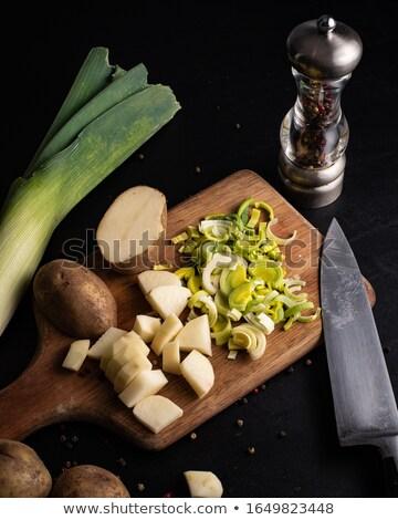 cocina · ingredientes · tabla · de · cortar · frescos · huevo · arroz - foto stock © paulinkl
