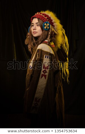 Native american tribe on stage Stock photo © bluering