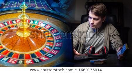Szerencsejátékos fogadás gazdag sültkrumpli férfi füst Stock fotó © alphaspirit