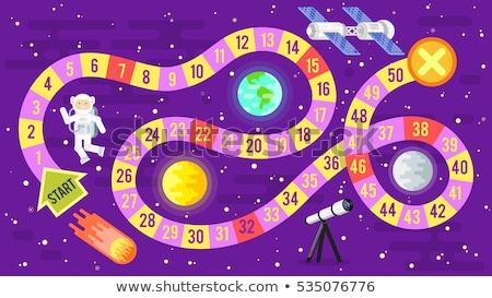 Illusztráció gyerekek tudomány űr társasjáték vektor Stock fotó © curiosity