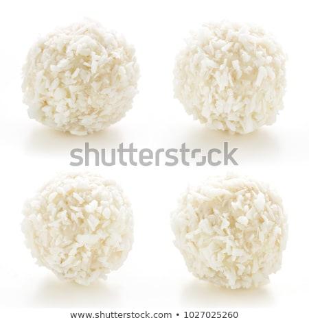 кокосового · кремом · белый · таблице · лист - Сток-фото © digifoodstock