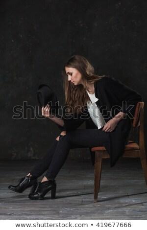 トレンディー · 女性 · カジュアル · 服 · 絹のような - ストックフォト © chesterf