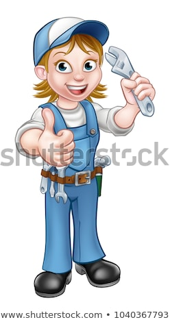 Female Mechanic or Plumber with Spanner Stock photo © Krisdog