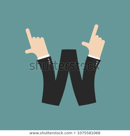 Mektup işadamı el parmak baskı Stok fotoğraf © popaukropa