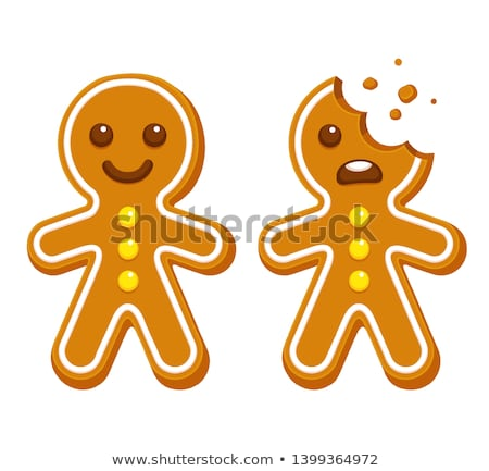 Gingerbread man's smile. Stock photo © Fisher