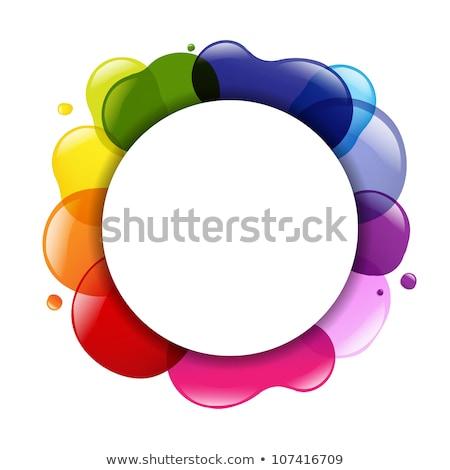 Dialog Balloon And Color Blobs Stock photo © cammep