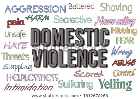 domestic violence, spousal abuse Stock photo © godfer