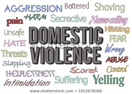 Zdjęcia stock: Domestic Violence Spousal Abuse