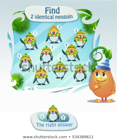 Trouver identique pingouin jeu enfants tâche Photo stock © Olena