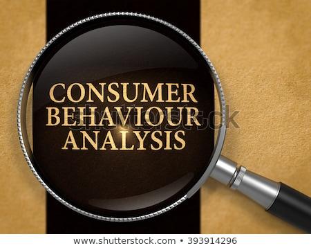 Tüketici davranış analiz Eski kağıt siyah Stok fotoğraf © tashatuvango