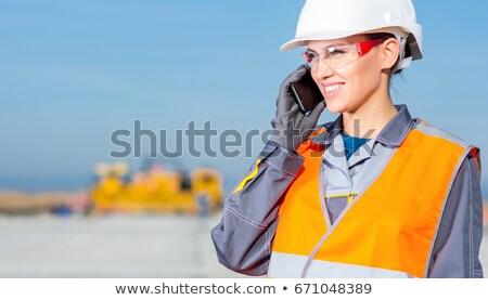 negócio · construtor · vetor · mão · edifício · casa - foto stock © rastudio