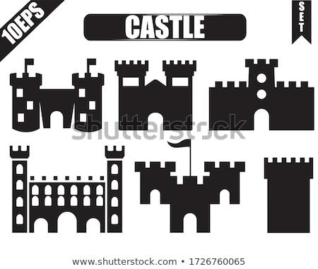 Tour médiévale château gothique mur cadre Photo stock © alessandro0770