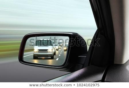 Reflexão cidade tráfego carro lado espelho Foto stock © stevanovicigor