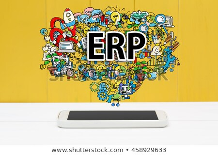 Small Business ERP - Cartoon Yellow Text. Business Concept. Stock photo © tashatuvango