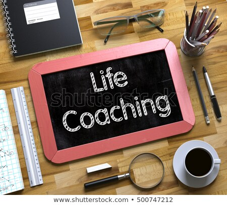 business coaching   text on small chalkboard 3d stock photo © tashatuvango