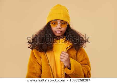 fille · tricoté · chandail · belle · élégant - photo stock © LightFieldStudios