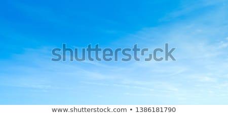 Blauwe hemel ochtend shot bewolkt schoonheid ruimte Stockfoto © kitch