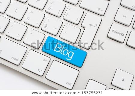 Teclado azul chave fórum escrito botão Foto stock © tashatuvango