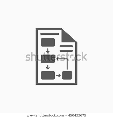 Desarrollo plan archivo etiqueta tarjeta primer plano Foto stock © tashatuvango