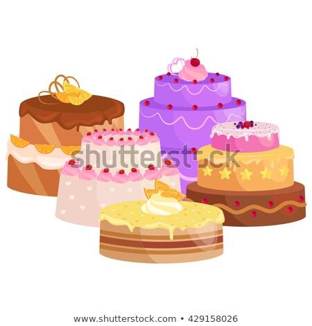 Baker Chef Cake Cartoon Character Stock photo © Krisdog